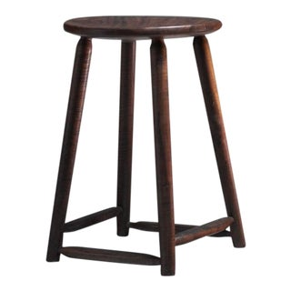 Arthur Espenet Walnut Studio Craft Stool, American, 1961 For Sale