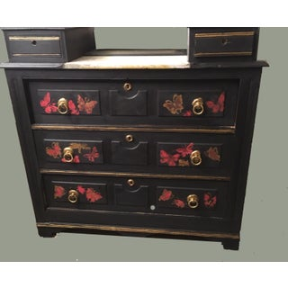 1910s Vintage Painted Black Butterfly Dresser Preview