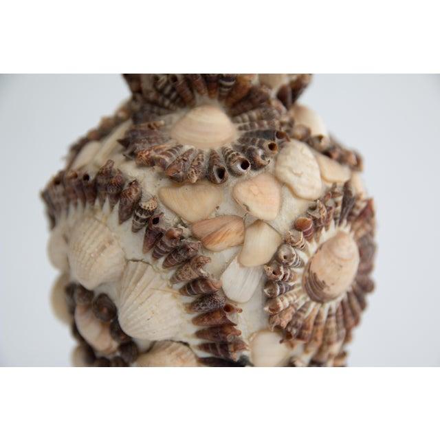 Vintage Coastal Sea Shell Vase Chairish