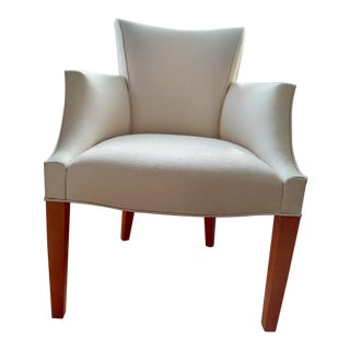 Donghia Cream Upholstered Salon Armchair