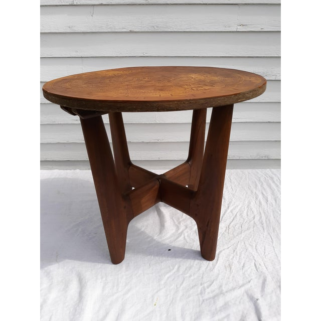 1960s Mid-Century Modern Angel Pazmino, Ecuador, Leather and Wood Table For Sale - Image 10 of 12