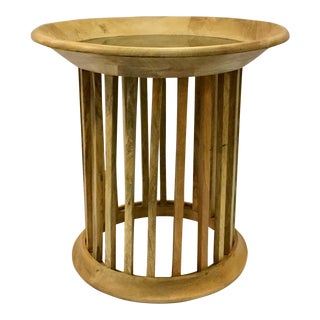 Organic Modern Matchstick Side Table For Sale