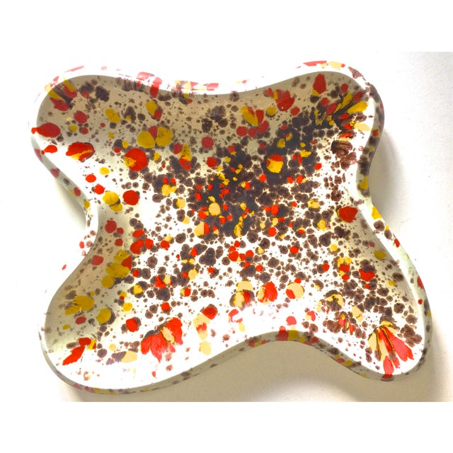 Vintage Mid-Century Modern Splatter Dish For Sale In Tampa - Image 6 of 6