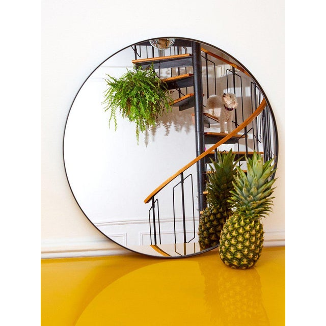2010s Aytm Large Black Circum Mirror For Sale - Image 5 of 7