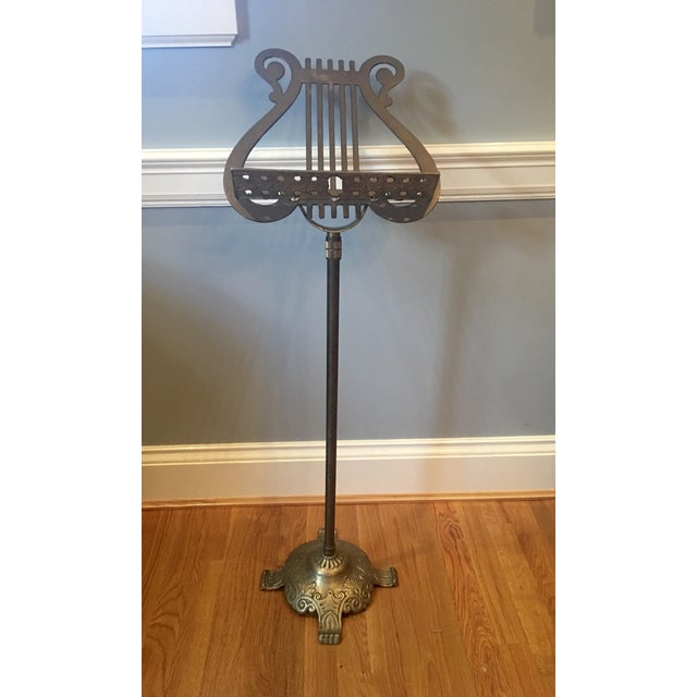 Antique Neoclassical Brass Music Stand - Image 2 of 7