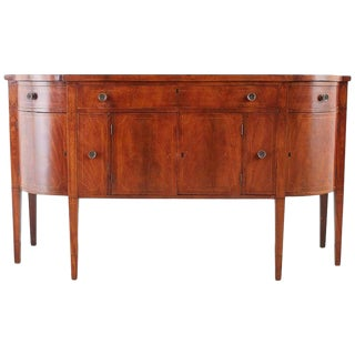 American Federal Mahogany Bow Front Sideboard For Sale