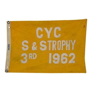 Vintage 1962 Cleveland Yacht Club Trophy Flag