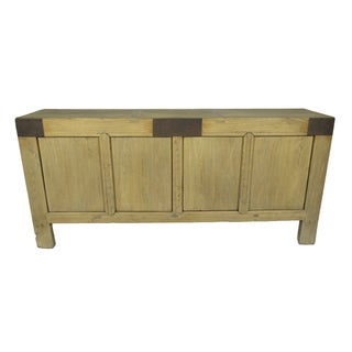 Handcrafted Rustic Wood Sideboard For Sale