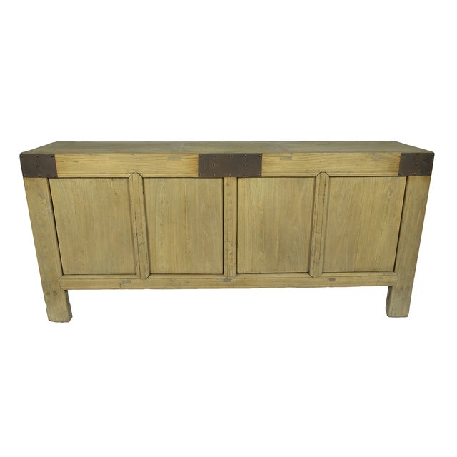Handcrafted Rustic Wood Sideboard - Image 1 of 3