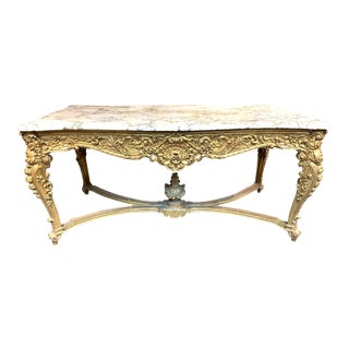 19th Century French Louis XV Style Giltwood Center Table For Sale