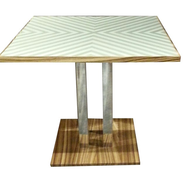 Gold Chevron Dining Table - Image 1 of 4
