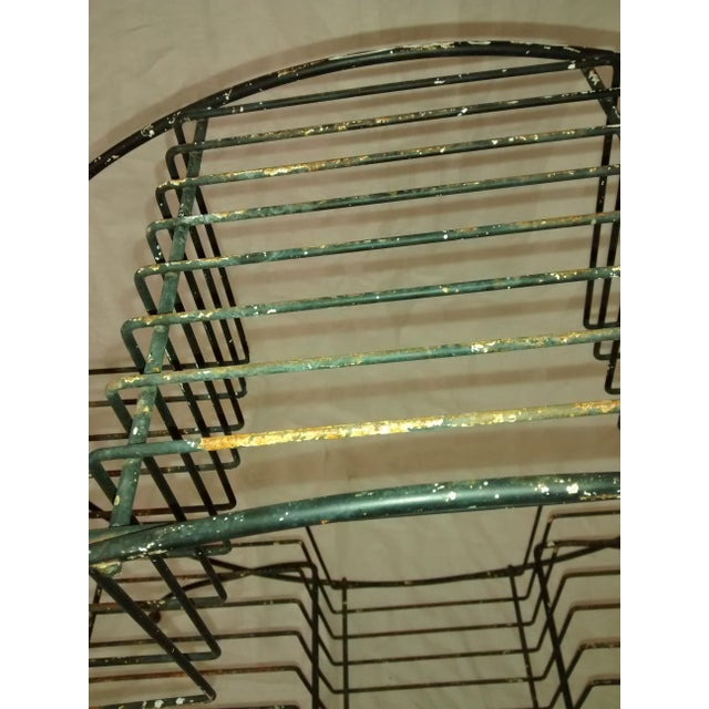 Mid Century Modern Wire Plant Stand Shelf - Image 6 of 8