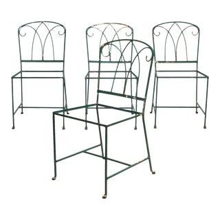 Maurizio Tempestini for Salterini Iron Garden Patio Chairs C.1940 For Sale
