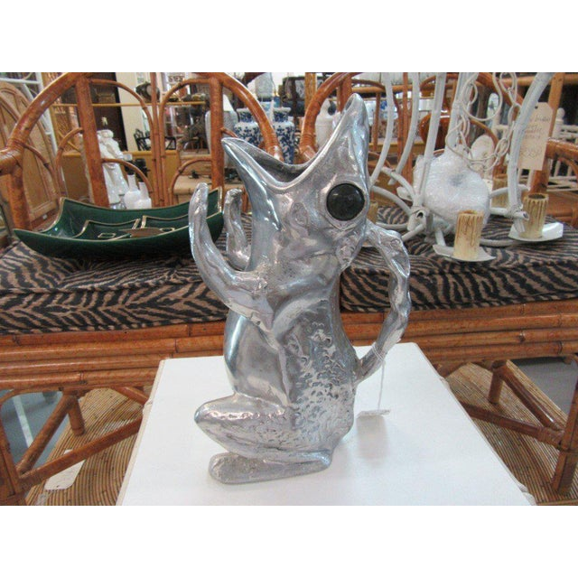 Aurther Court Aluminum Frog Pitcher - Image 6 of 6