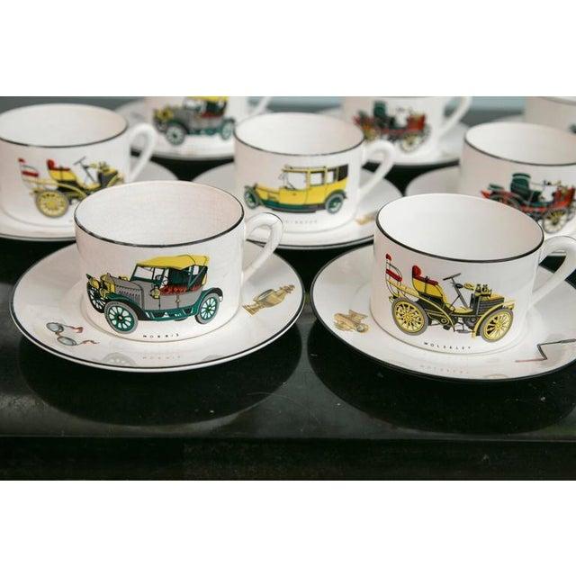 Limoges Antique Car Motif Coffee Set - 30 Pieces - Image 4 of 9