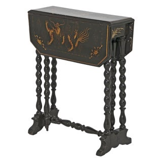 Victorian English Chinoiserie Sunderland Side Table For Sale