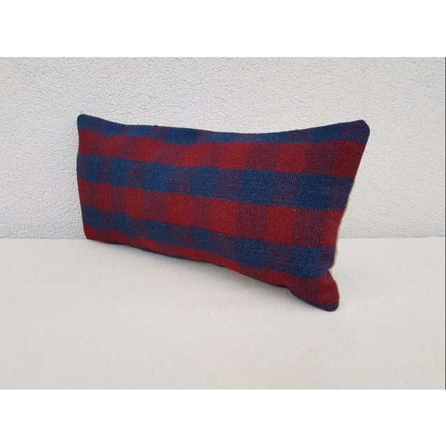 Rustic Handmade Turkish Kilim Pillow For Sale - Image 3 of 6