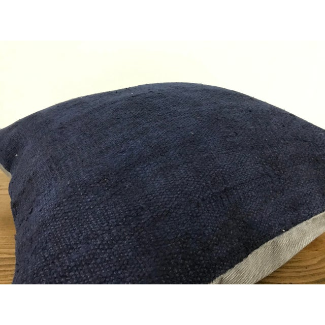 Blue Modern Turkish Decorative Handmade Pillow Cover For Sale - Image 4 of 6