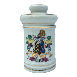 Vintage Porcelain Apothecary Jar For Sale