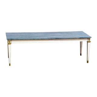 Mid-20th Century Swedish Style Marble Top Coffee Table