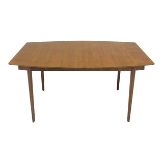 Mid-Century Modern Widdicomb Walnut Dining Table with Two Extension Boards Leaves For Sale