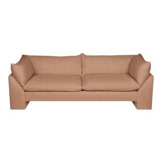 Logan Sofa, Velvet, Dusty Pink