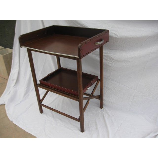 Mid-Century Collapsable Bar Cart - Image 7 of 9