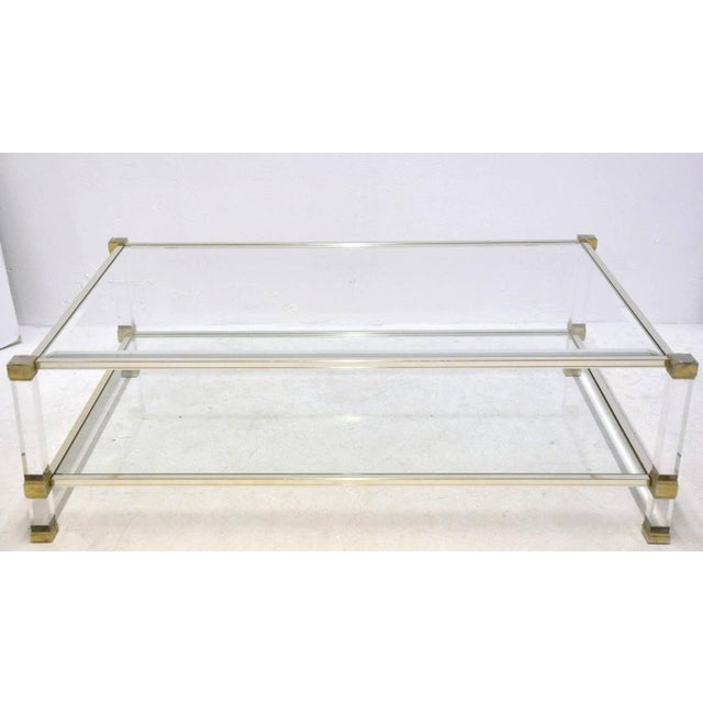Pierre Vandel Lucite And Glass Coffee Table - Image 2 of 6