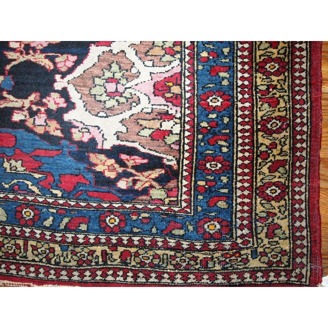 Antique Persian Isfahan Rug - 4′3″ × 6′ - Image 3 of 7