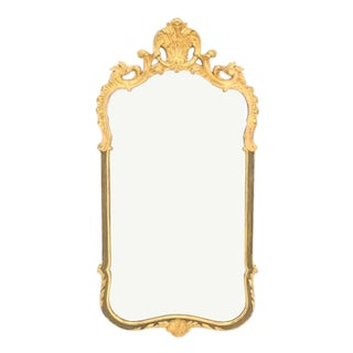 Carved Wood Gold Guild Rococo Style Mirror For Sale
