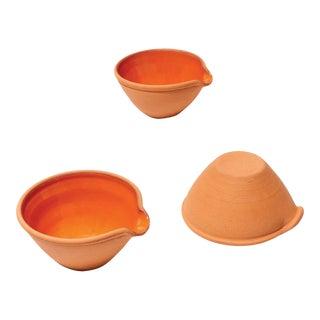 Handmade MVP Prep Bowls from New York Stoneware - Set of 3 For Sale