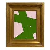 Image of Ron Giusti Mini Abstract Light Pink Kelly Painting, Framed For Sale