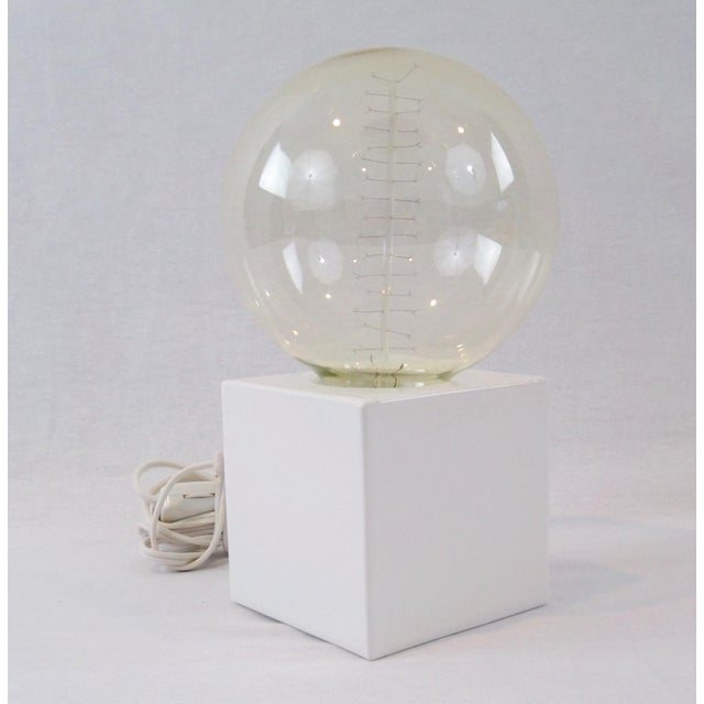 White Cube Table Lamp - Image 8 of 8