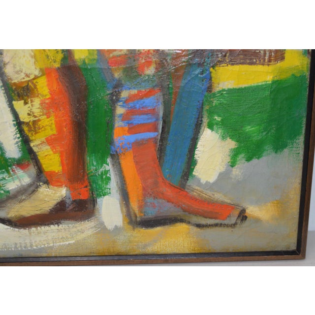 "Monumental Mid Modern ""Football"" Painting by J. Beall c.1960 For Sale In San Francisco - Image 6 of 10"