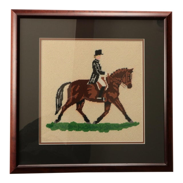 """Dressage Rider"" Equestrian Needlepoint For Sale"