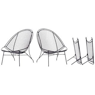 1960s Vintage John Salterini Patio Chaise Lounge Chairs- 4 Pieces For Sale