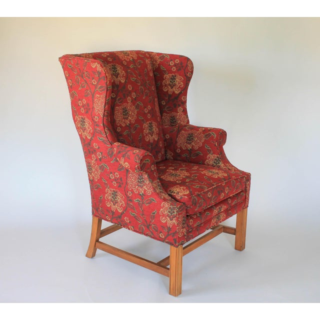 Upholstered Wingback Chair For Sale In Milwaukee - Image 6 of 11