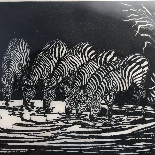 1928 Signed Zebra Lithograph - Image 4 of 10