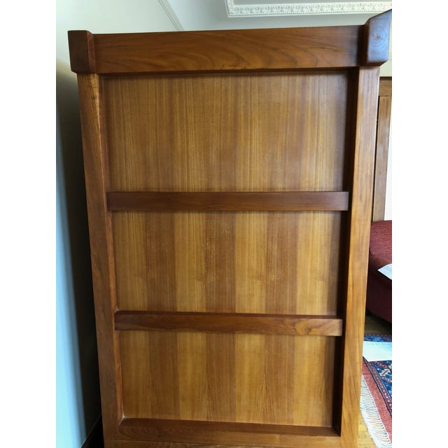 2000s Solid Cherry Wood Japanese Tansu For Sale - Image 5 of 6