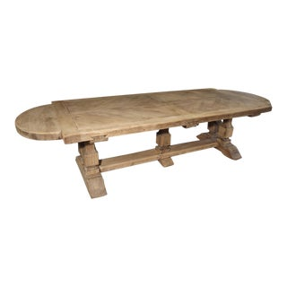 Bleached Louis XIV Style French Farm Table For Sale