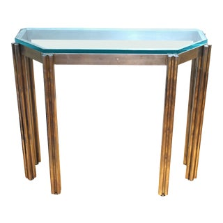 Alessandro Albrizzi Wall Console in Chrome and Glass For Sale