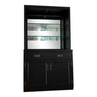 Bar - Pottery Barn Exclusive 2 Pieces Cabinet and Hutch For Sale