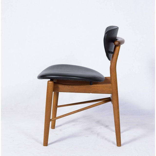 Mid-Century Modern Set of Six Finn Juhl NV 55 Dining Chairs For Sale - Image 3 of 10