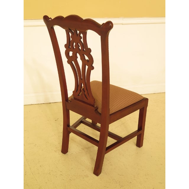 Ej Victor Chippendale Style Mahogany Dining Chairs - Set of 8 For Sale - Image 11 of 13