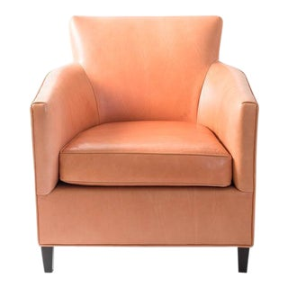 Vintage Persimmon Leather Chair