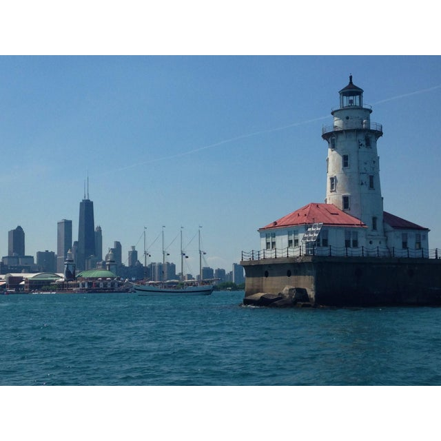 Navy Pier Lighthouse and Chicago Skyline Photo by Josh Moulton - Image 1 of 2