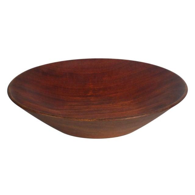 Bob Stocksdale Studio Craft Lathe Turned Mahogany Fruit Bowl For Sale