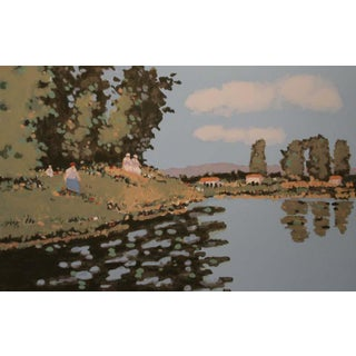 """Reflections"" Limited Edition Serigraph Signed and Numbered by Frederick McDuff For Sale"