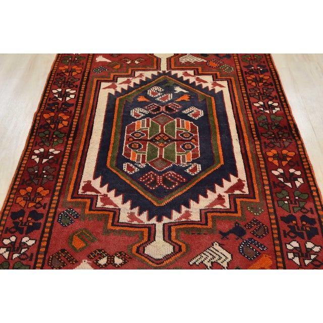 Vintage Persian Luri Rug- 4′1″ × 7′5″ For Sale In Philadelphia - Image 6 of 13