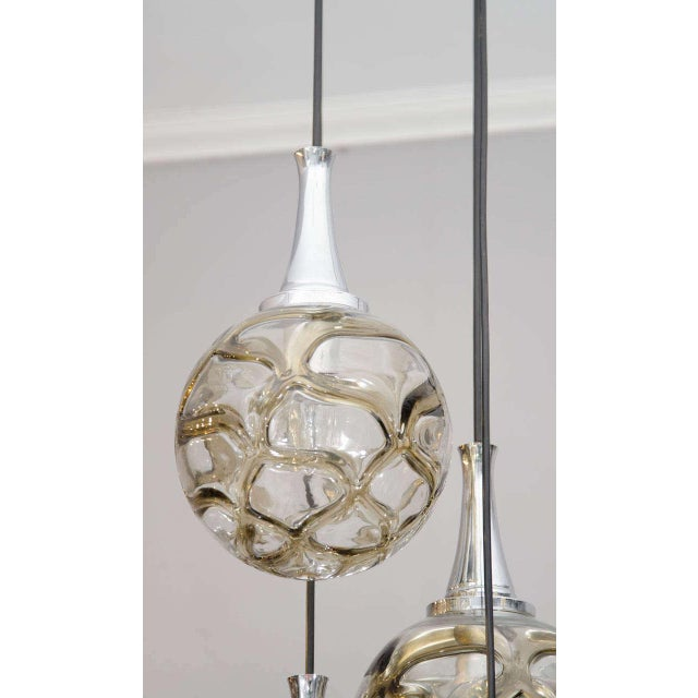 1960s German globe glass fixture.